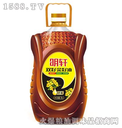 明轩匠香双籽菜籽油5L