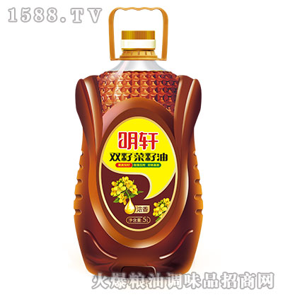 明轩浓香双籽菜籽油5L