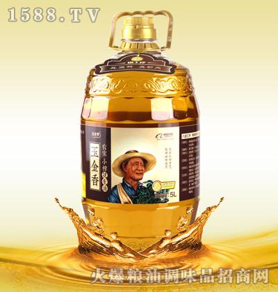 玉金香农家小榨花生油5L