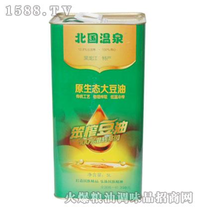北国温泉非转基因笨榨豆油(原生态大豆油)5L