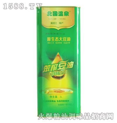 北国温泉非转基因笨榨豆油(原生态大豆油)2L