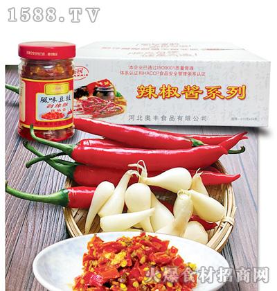 占民风味豆豉剁辣椒210克x24瓶