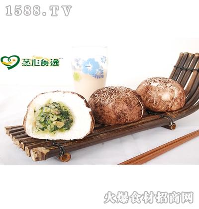 蒸心食逸香菇青菜包