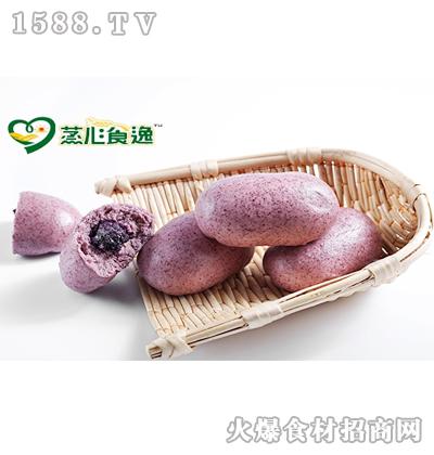 蒸心食逸紫米紫薯包