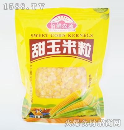 佰鲜农场甜玉米粒200克