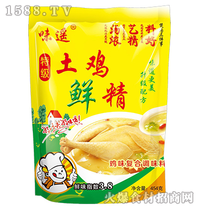 味遥特级土鸡鲜精鸡味复合调味料454克