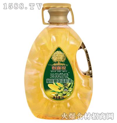 钱树花玉榨橄香食用植物调和油5L
