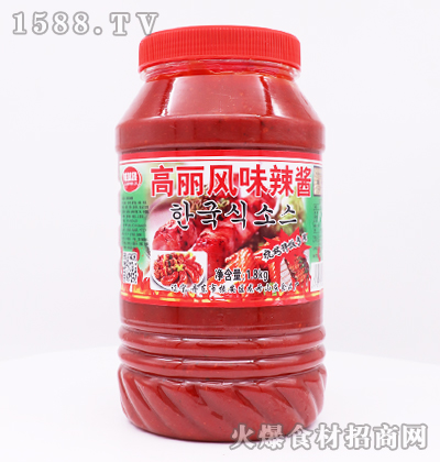 鲜味族高丽风味辣酱-1.8kg