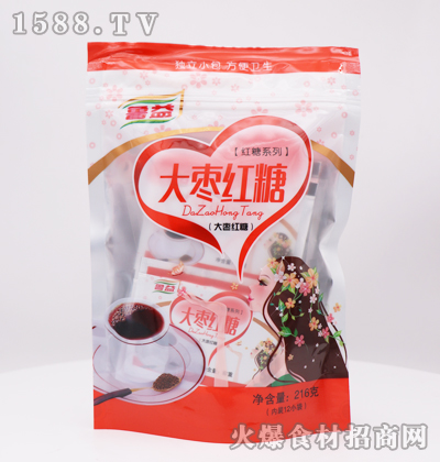 鲁益大枣红糖216g