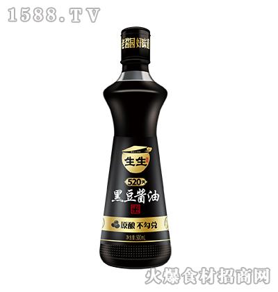 生生酱园520天黑豆酱油500ml