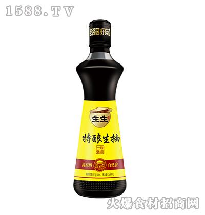 生生酱园特酿生抽一级酱油500ml