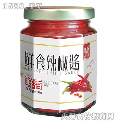悦客鲜食鲜香辣椒酱208g