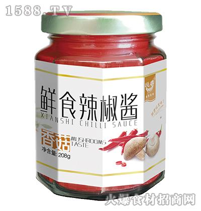 悦客鲜食香菇辣椒酱208g