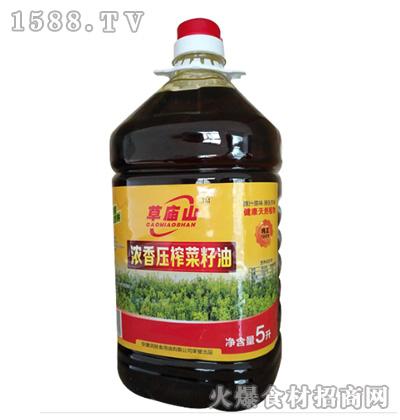 草庙山浓香压榨菜籽油5L