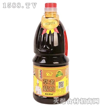 鑫合顺草菇老抽酿造酱油1.8L