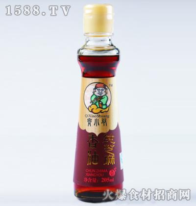 齐小双纯芝麻香油205ml