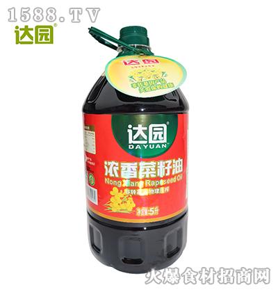 达园浓香菜籽油5L