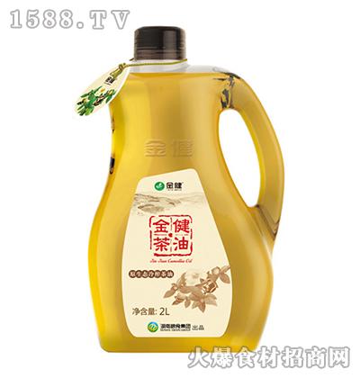 金健原生态冷榨茶油2L