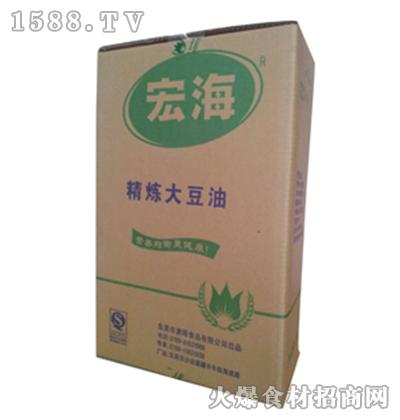 宏海精炼大豆油22L