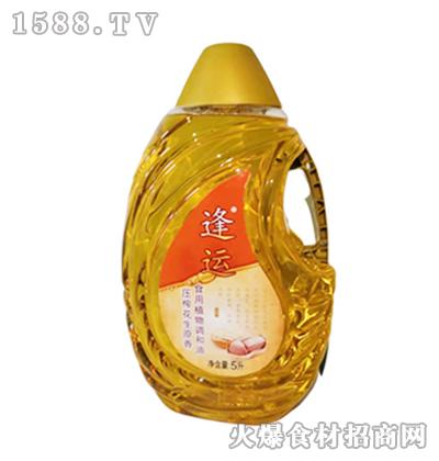 逢运压榨花生原香食用植物调和油5L
