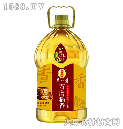 佳佳红石磨稻香稻米调和油5L