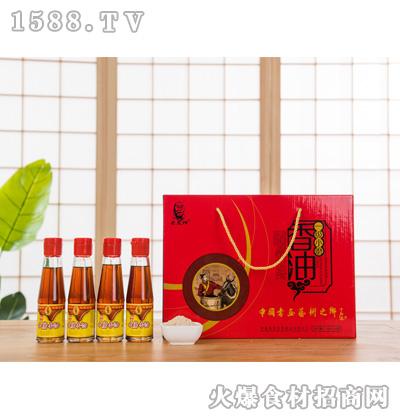 宏发祥一级小磨香油180mlx4瓶