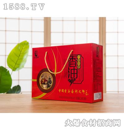 宏发祥一级小磨香油礼盒180mlx4瓶