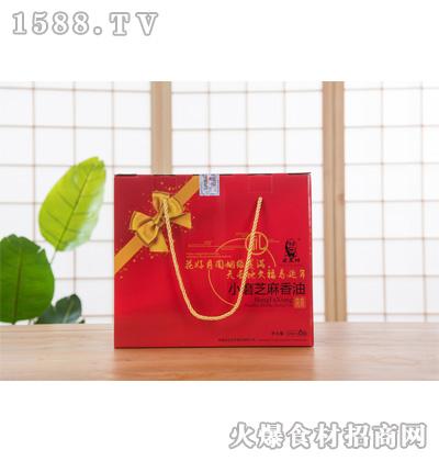 宏发祥小磨芝麻香油礼盒120mlx6瓶