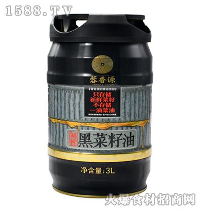 蓉香源初榨黑菜籽油3L