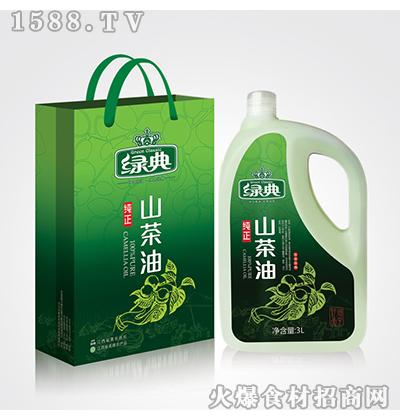绿典纯正山茶油3L
