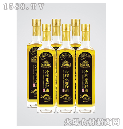 绿典冷榨亚麻籽油500ml