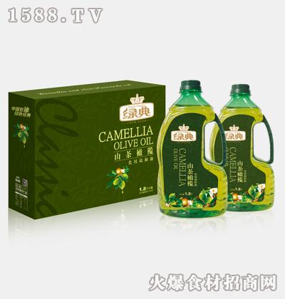 绿典山茶橄榄非转基因食用调和油1.8L