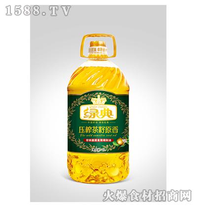 绿典压榨茶籽原香非转基因食用调和油5L