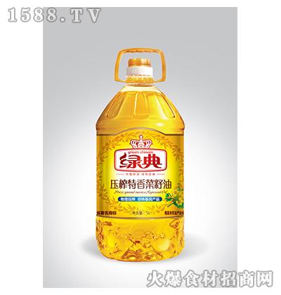 绿典压榨特香菜籽油5L