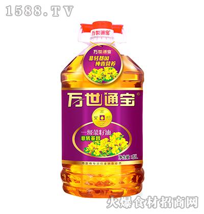 万世通宝非转基因一级菜籽油5升
