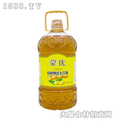 蒙优压榨纯香大豆油5L