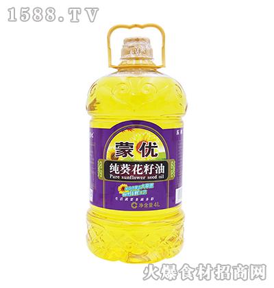 蒙优纯葵花籽油4L
