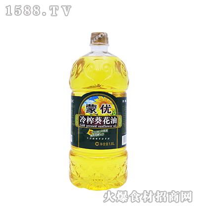 蒙优冷榨葵花油1.8L
