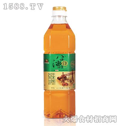 八旗油坊冷压榨大豆油(非转基因)900ml