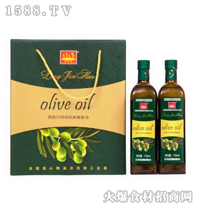 龙金花西班牙特级初榨橄榄油750mlx2