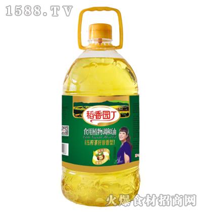 稻香园丁压榨茶籽原香型食用植物调和油5L