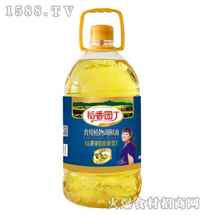 稻香园丁山茶橄榄原香型食用植物调和油5L