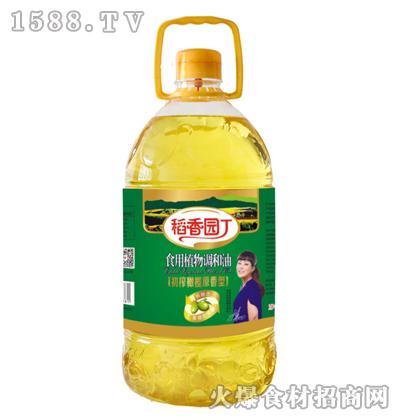 稻香园丁初榨橄榄原香型食用植物调和油5L