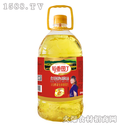 稻香园丁压榨花生原香型食用植物调和油5L