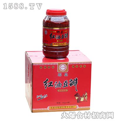 恒坤郫县红油豆瓣箱装4kg*4瓶