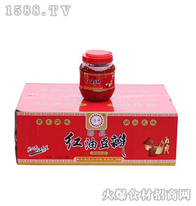 恒坤郫县红油豆瓣箱装500g*12瓶