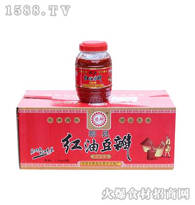 恒坤郫县红油豆瓣1.1kg*8瓶