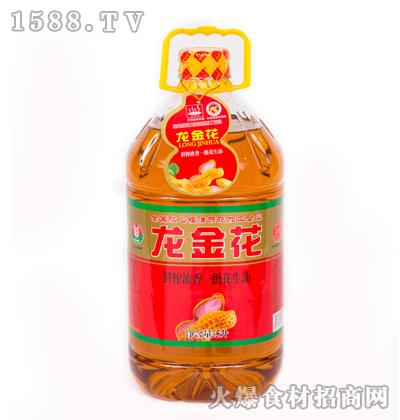 龙金花鲜榨浓香一级花生油5升