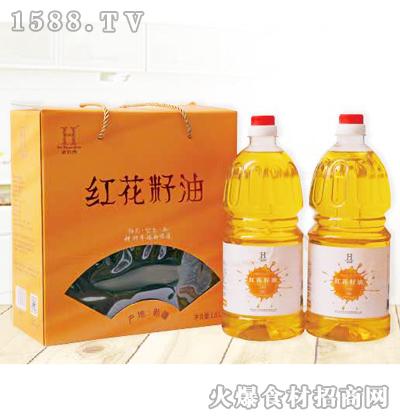 老农禾红花籽油礼盒1.8Lx2