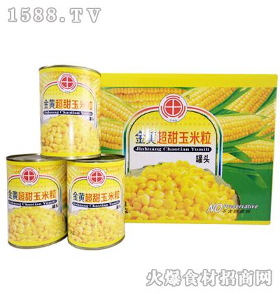 田园系列金黄超甜牌玉米粒罐头